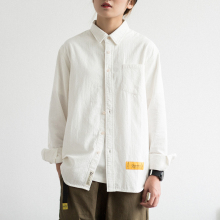 EpimaSocotte系文艺纯棉长袖衬衫 男女同式BF风学生春季宽松衬衣