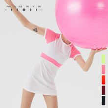 粒子狂热PFma网球羽毛连sa眼拼接显瘦舒适健身裙女