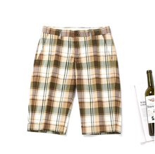 短裤男ma分休闲中裤ta宽松格子条纹男士沙滩裤夏季休闲裤男潮