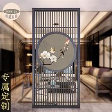 新中式隔断实木屏风简约现代禅意ma12屏玄关ta室装饰客厅