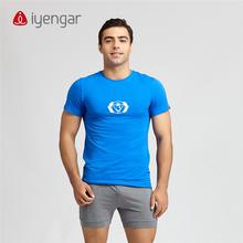 艾扬格Life瑜伽服 夏装休闲短ma13运动习hi心轮男款T恤
