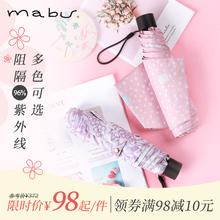 日本进mb品牌Mabes伞太阳伞防紫外线遮阳伞晴轻便携折伞