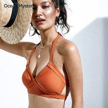 OcemcnMystfe沙滩两件套性感(小)胸聚拢泳衣女三点式分体泳装