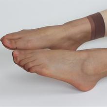短袜女mc晶丝肉色夏wn肉色隐形脚尖透明短丝袜日系