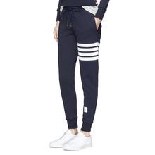 欧美潮mdTB THcd秋季女装裤子纯棉束脚卫裤休闲运动修身长裤