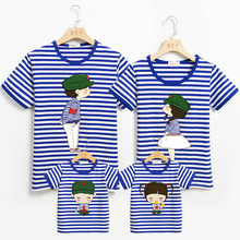 夏季海md风亲子装一88四口全家福 洋气母女母子夏装t恤海魂衫