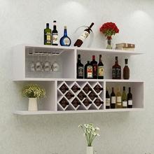 现代简约红酒me墙上壁挂款es厅酒格墙壁装饰悬挂款置物架