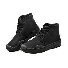 高帮解me鞋迷彩鞋作al筒劳保鞋保安鞋男女工作鞋高腰帆布鞋
