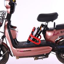 电动车me置宝宝折叠al板车电动自行车电瓶车宝宝(小)孩安全坐凳