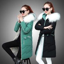 反季时me女装新正波al绒服女中长式加厚保暖大码冬装刺绣外套