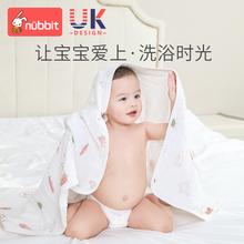 婴儿浴me新生宝宝纯ha超柔吸水加厚初生洗澡巾宝宝被子盖毯