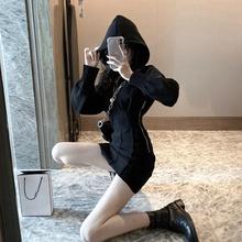 [meiaishuo]时尚运动风连帽长袖卫衣连