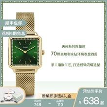 CLUmeE时尚手表si气质学生女士情侣手表女ins风(小)方块手表女