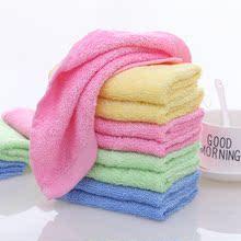 【20me装】油利除hu洗碗巾纯棉木纤维彩色方巾(小)毛巾厨房抹布