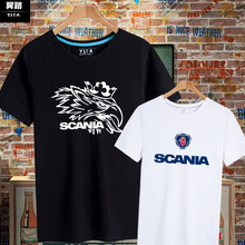 scameia斯堪尼er迷欧美街头爆式字母短袖T恤衫男女半袖上衣服