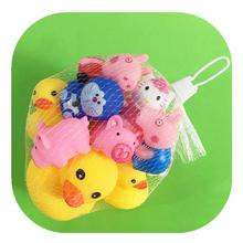 宝宝洗me玩具港款大li黄鸭软胶捏捏叫鸭子(小)动物戏水