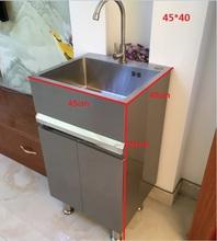 新款30me1不锈钢洗al洗手洗漱台浴室柜厨房洗菜洗脸盆水槽池