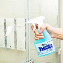 日本进me玻璃水家用al洁剂浴室镜子淋浴房去污水垢清洗剂神器