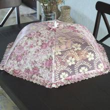包邮加me大号折叠圆ge餐桌罩饭菜罩子防苍蝇盖菜罩食物罩菜伞