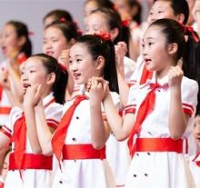 元旦儿me合唱服演出ge红领巾中(小)学生红歌诗朗诵服装少先队员