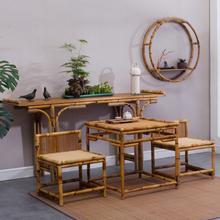 原创向往的生活家具同式竹藤供桌条案mf14桌国案aw供台促销