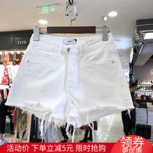 OKOmi正品202fp新式显瘦破洞高腰毛边不规则女阔腿裤子