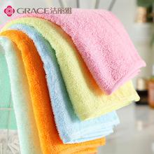 竹纤维(小)毛巾柔软美容巾宝宝薄式62mi145纯色ni巾洁丽雅童巾