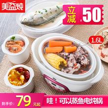 美益炖mi自动隔水电ni瓷电炖盅熬煮粥锅煲汤神器家用1-2的3的