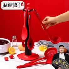 麻辣德mi严选硅胶铲of锅专用家用耐高温不锈钢汤勺漏勺子