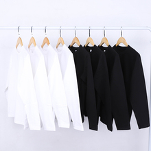 拉里布朗270g重磅白色圆领mi11袖T恤ni色秋衣男女式打底衫