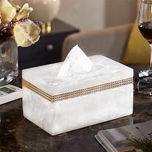 纸巾盒mi约北欧客厅es纸盒家用餐巾纸盒创意卫生间卷纸收纳盒