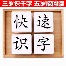 无图识字大卡片学前儿童幼儿园大班mi13字早教le岁汉字学习生字