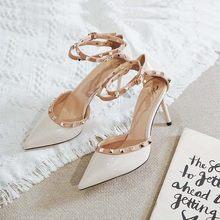 一代佳mi高跟凉鞋女ar1新式春季包头细跟鞋单鞋尖头春式百搭正品