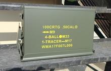 美国1mi.7勃朗宁ar2A1铁皮箱空投箱退役箱摩托车后备箱