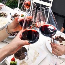高脚杯创意个性红酒mi6家用套装kn用欧式奢华一对高档水晶杯