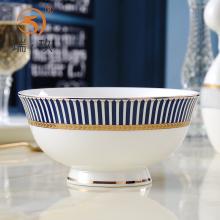 精美家mi金边骨瓷高si碗面碗上档次陶瓷反口防烫菜碗汤碗