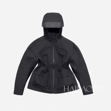 202mi秋冬新式滑io羔绒外套女明星同式保暖抗风西藏户外冲锋衣