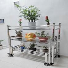 不锈钢mi叠多层阶梯sy盆栽多肉 室内外置物架花架移动省空间