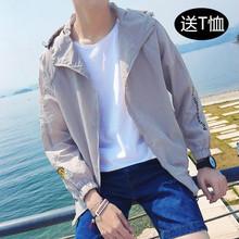 201mi夏季新式男di款薄式夹克青年学生简约外套夏天外衣