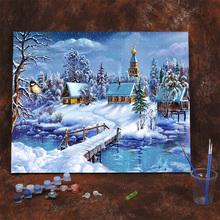 diymi字油画减压pn画手绘填色油画框抽象客厅卧室风景画