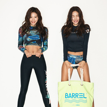 韩国新mi防晒女冲浪pn衣户外速干运动浮潜长袖泳衣女