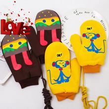 冬季全mj男生女生1fx暖手套 可爱卡通棉印胶加绒加厚连指手套