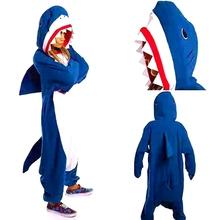 朴智�F鲨鱼卡通动物连体睡