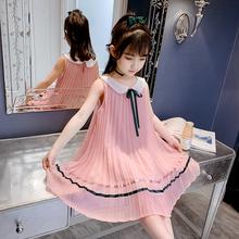 女童夏ml连衣裙20it式网红超洋气宝宝裙子夏季公主裙雪纺背心裙