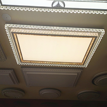 客厅灯ml代简约leit灯灯具卧室灯水晶灯房间灯大气大灯长方形