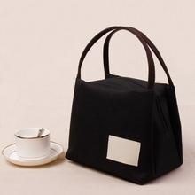 日式帆ml手提包便当ho袋饭盒袋女饭盒袋子妈咪包饭盒包手提袋