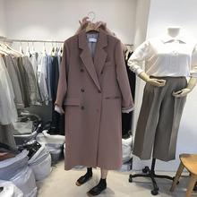 chiml网红(小)西装ys2019秋冬季新式韩款宽松韩国中长式风衣西服