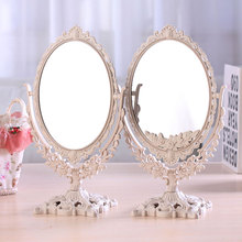 台式化mm镜子 欧式oo 大号镜子 便携公主镜 新式