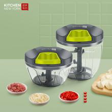 手动碎mm机搅碎机手oo肉器家用(小)型绞馅机料理机搅拌机