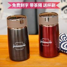 韩款3mm4不锈钢保up学生便携迷你女士水杯个性(小)巧简约茶杯子